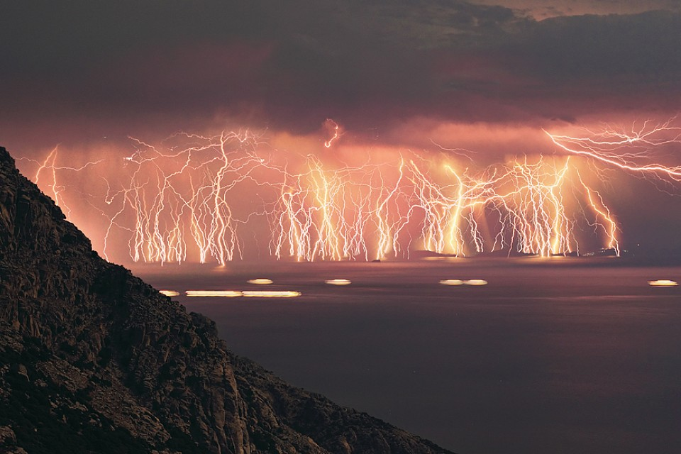 Catatumbo Lightning. Geological Feature in Venezuela, South America