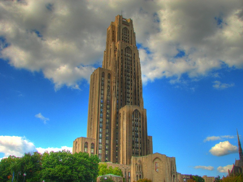 Early HDR attempts - Cathedral of Learning