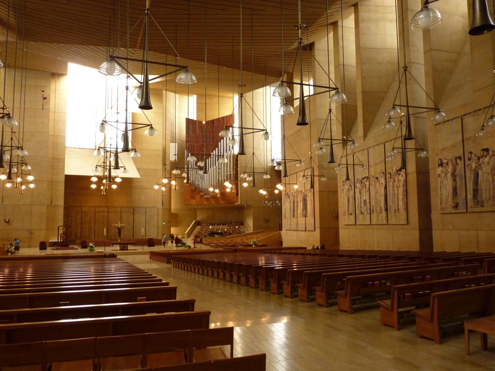 Cathedral Of Our Lady Of The Angels Church In Los
