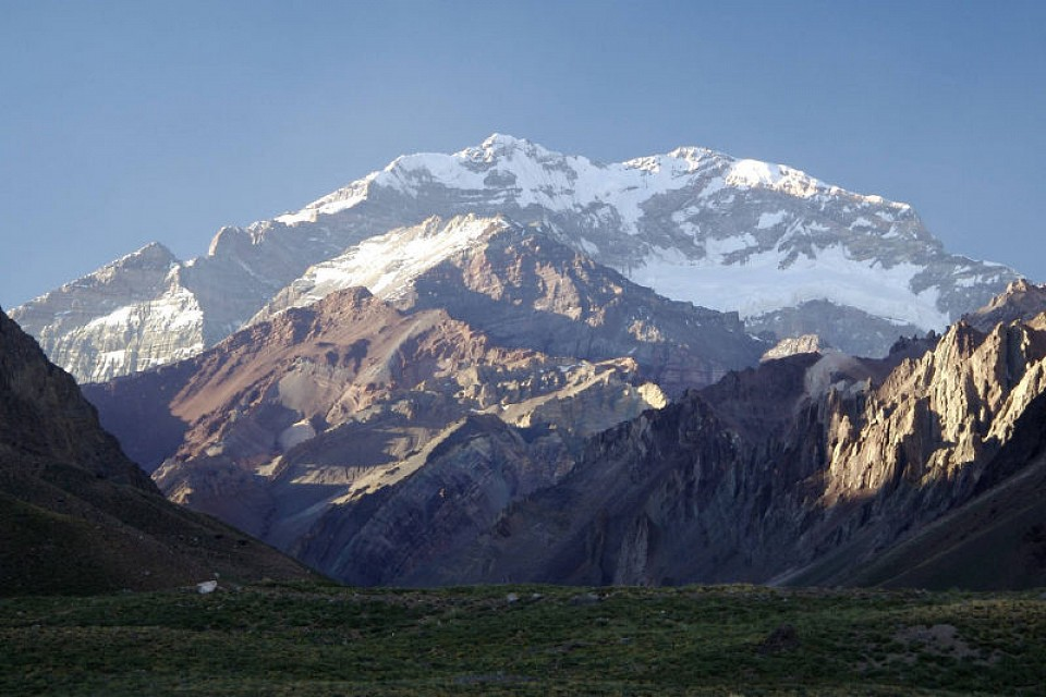 Cerro Aconcagua. Mountain in Argentina, South America