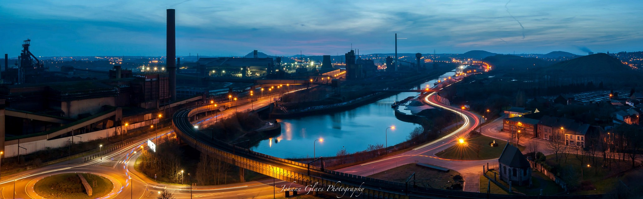Blue Hour on the Black Country - Charleroi