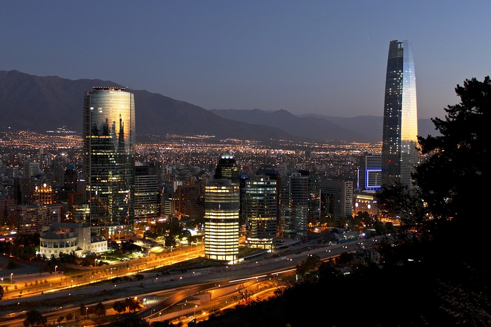 Santiago de Chile at night - Chile