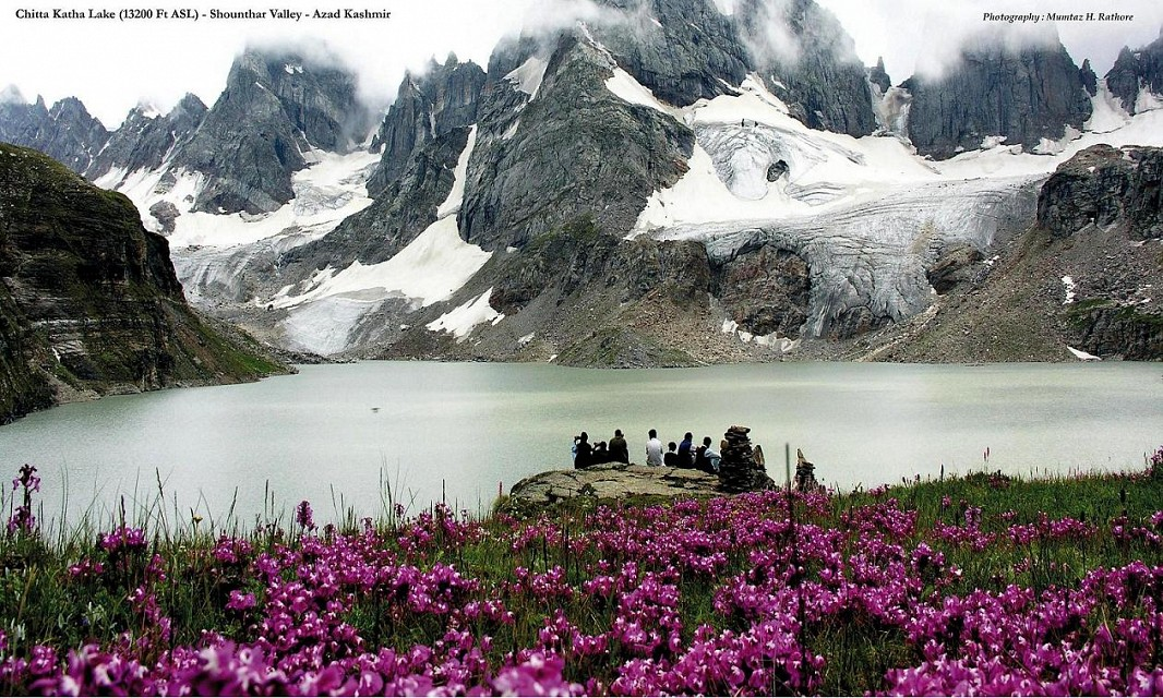 Chitta Khata Lake. Lake in Pakistan, Asia