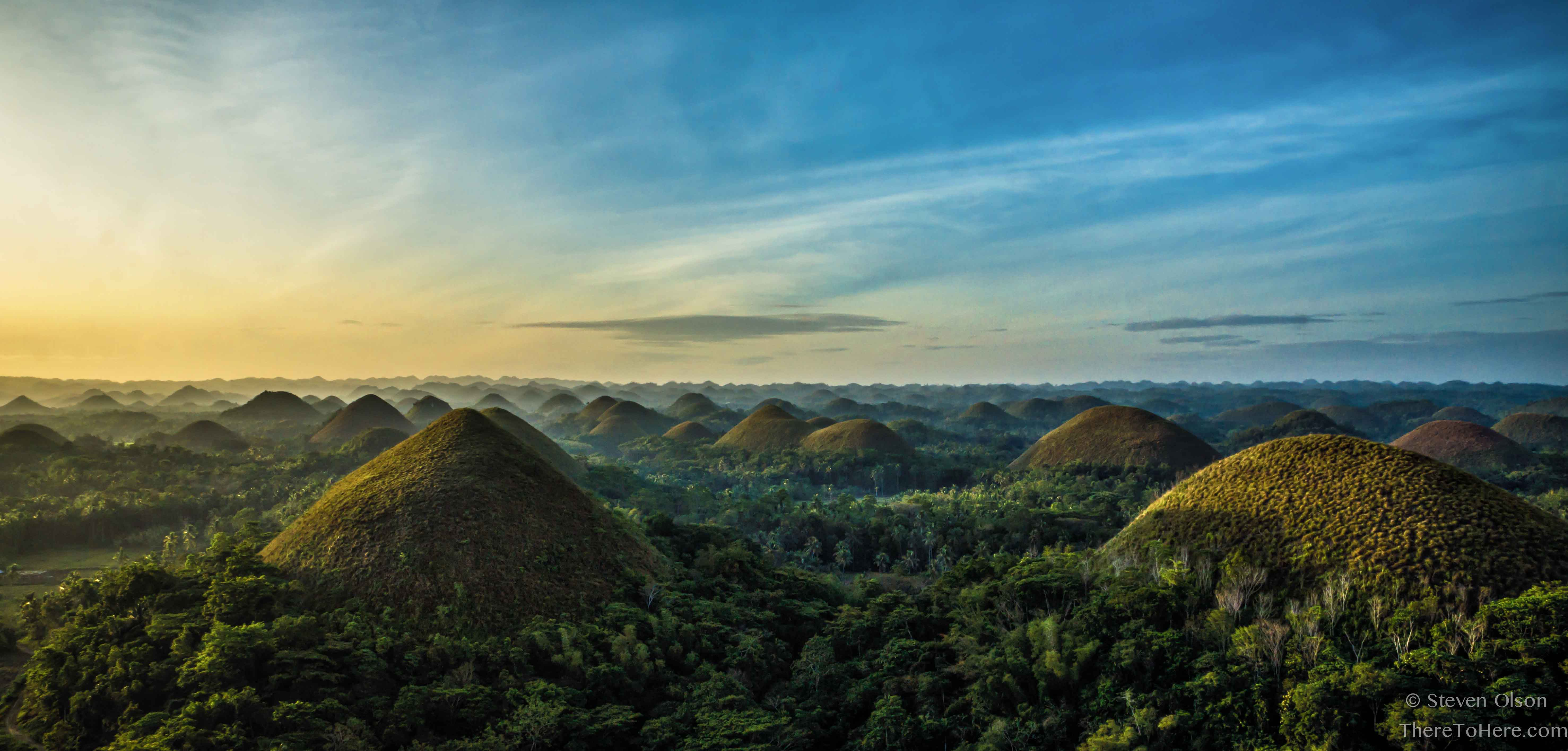 Chocolate Hills Natural Monument Hill In Bohol