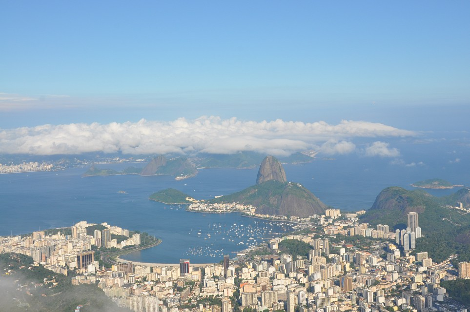 view from Corcovado Mountain. - Christ