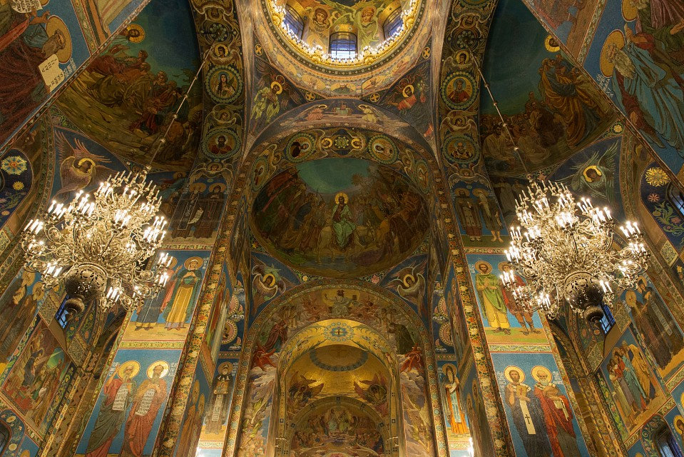 Amazing church ceiling - Church of the Savior on Blood