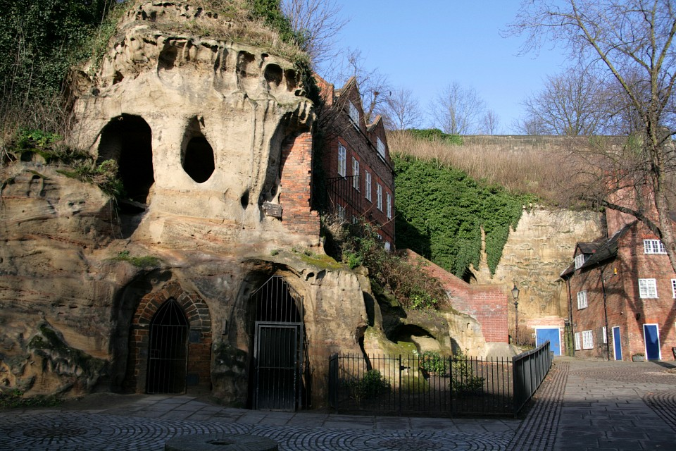 Caves cut out of castle rock, Nottingham - City of Caves