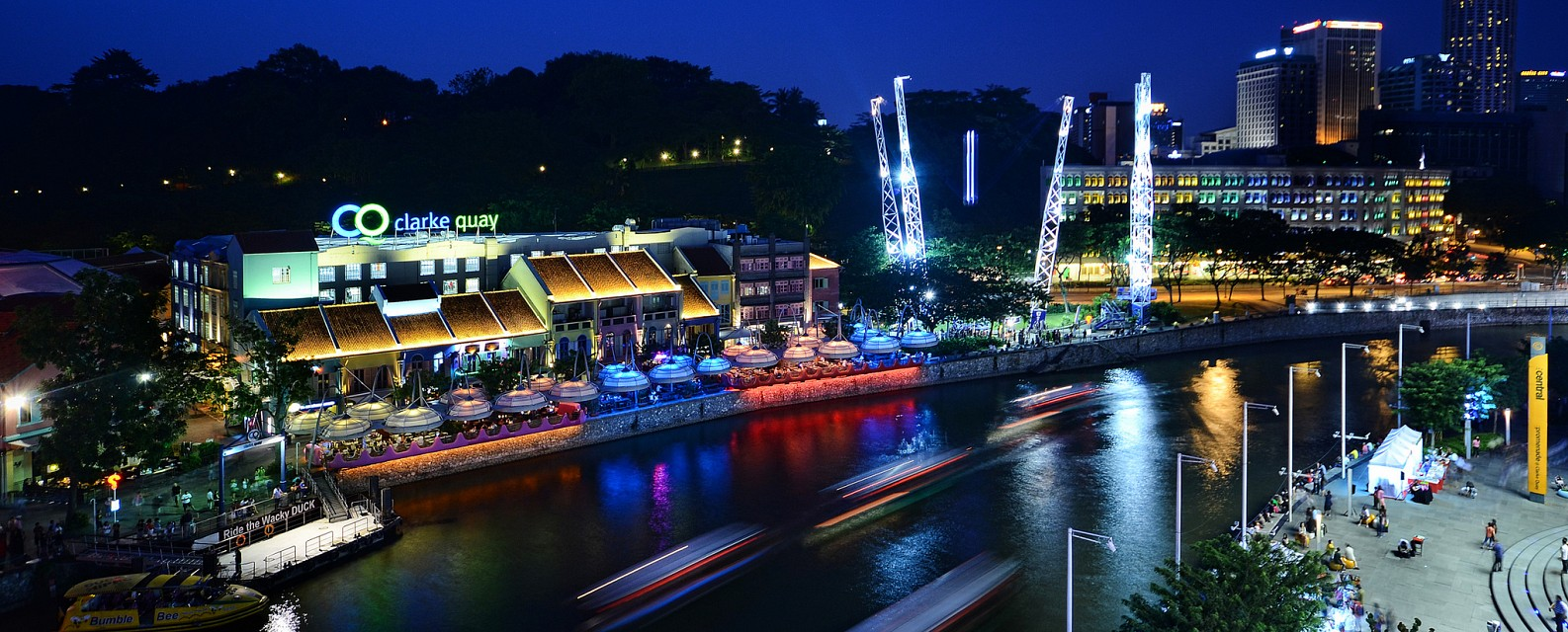Clarke Quay, the place to be when in