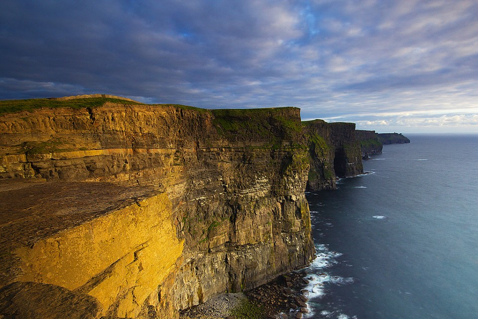 A burst of light in the North Atlantic - courtesy of Cliffs of Moher. - Cliffs of Moher