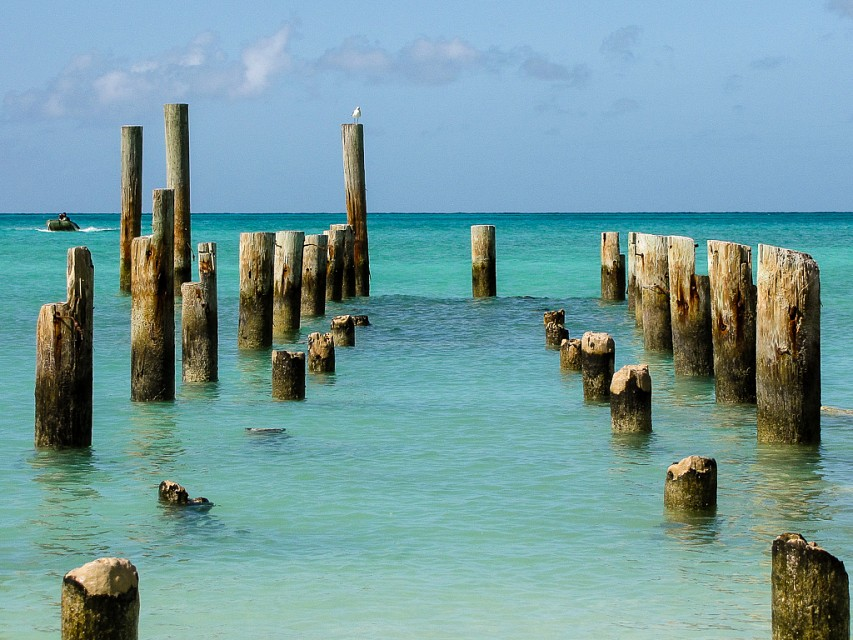 Old Pier, Jaws Beach, Bahamas - Clifton Heritage Park