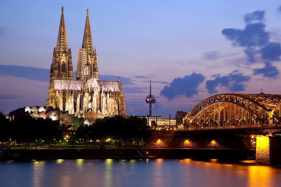 Cologne Cathedral and the Hohenzollern Bridge - Cologne Cathedral