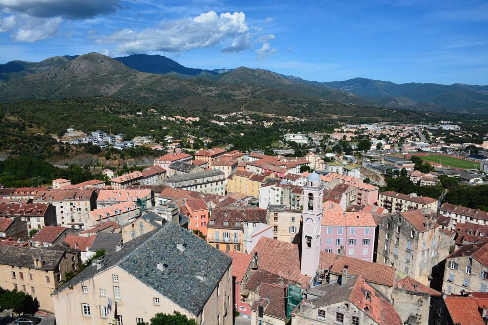 View on old town Corte from Citadel (Corsica, France 2014) - Corte