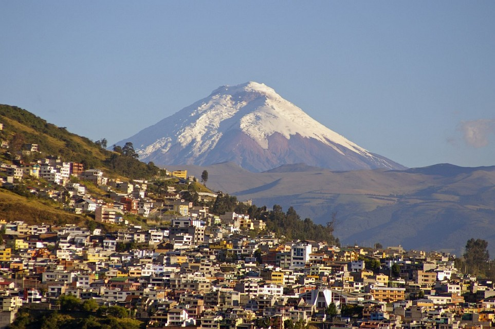 Cotopaxi from our hotel window in Quito - Cotopaxi