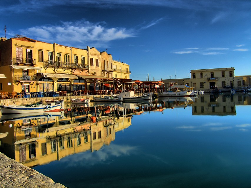 Rethymno old harbour hdr - Crete
