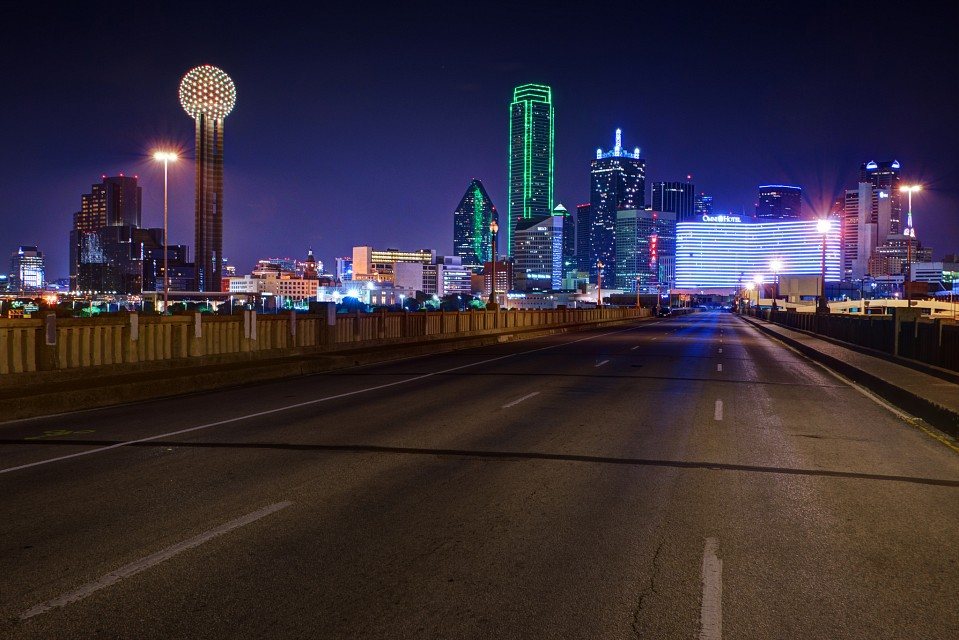 Looking Down A Lonely Highway To A Busy City - Dallas