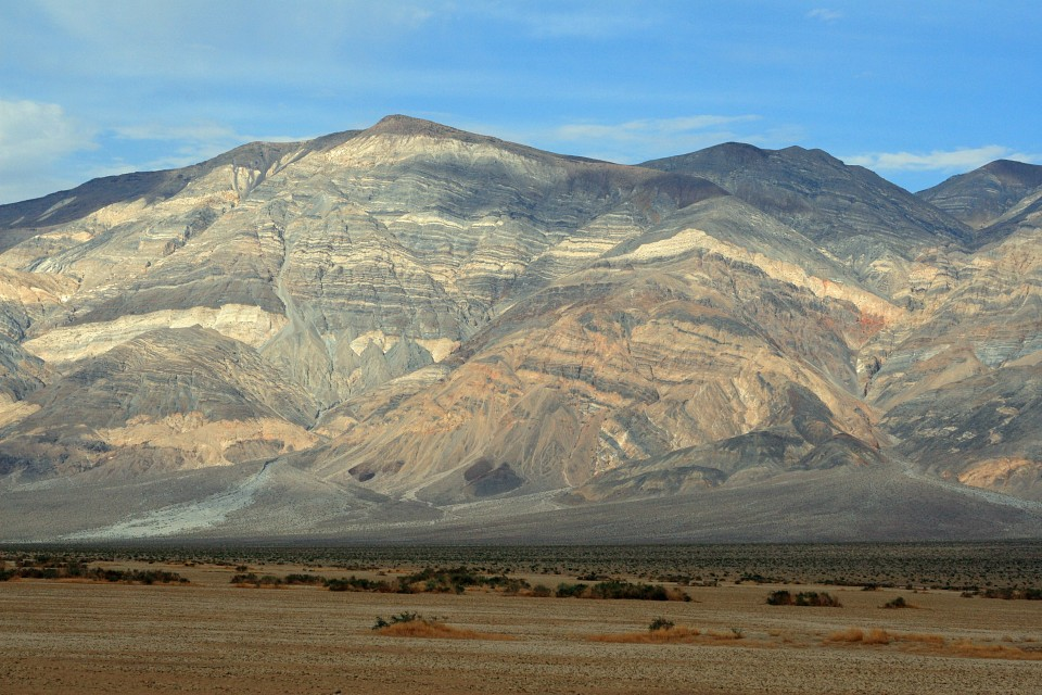 Oddly striped landscape in Death Valley - Death Valley National Park