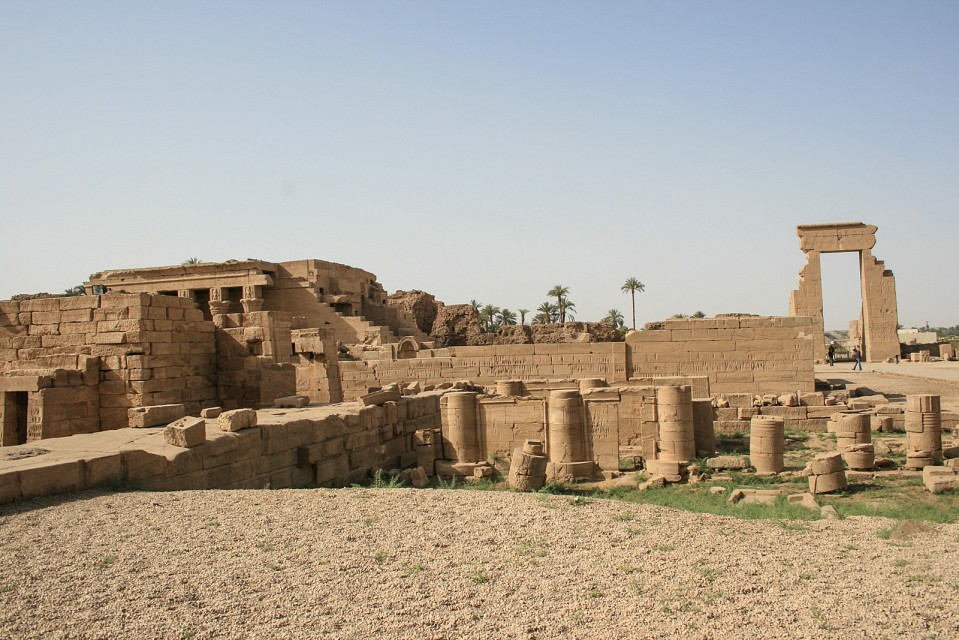 Panoramic view of Dendera Temple complex - Dendera Temple complex