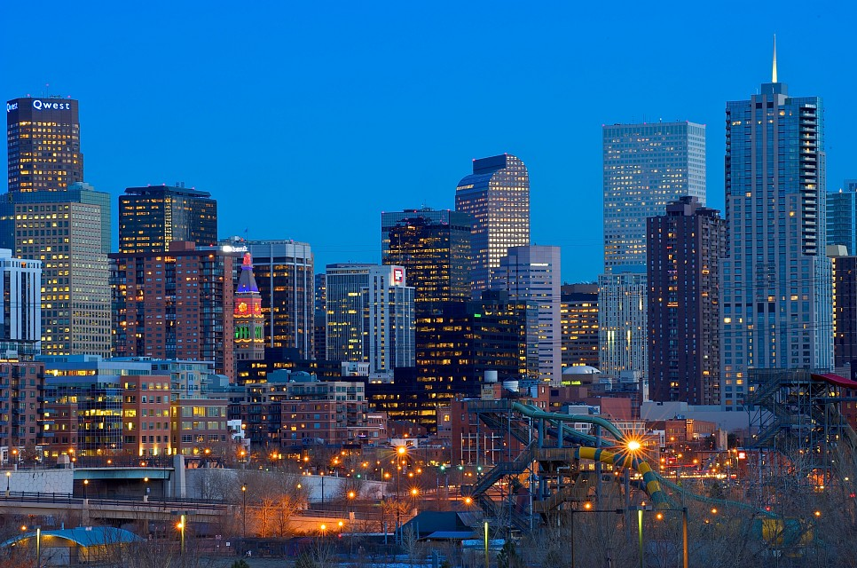Denver Skyline at Sunset - Denver