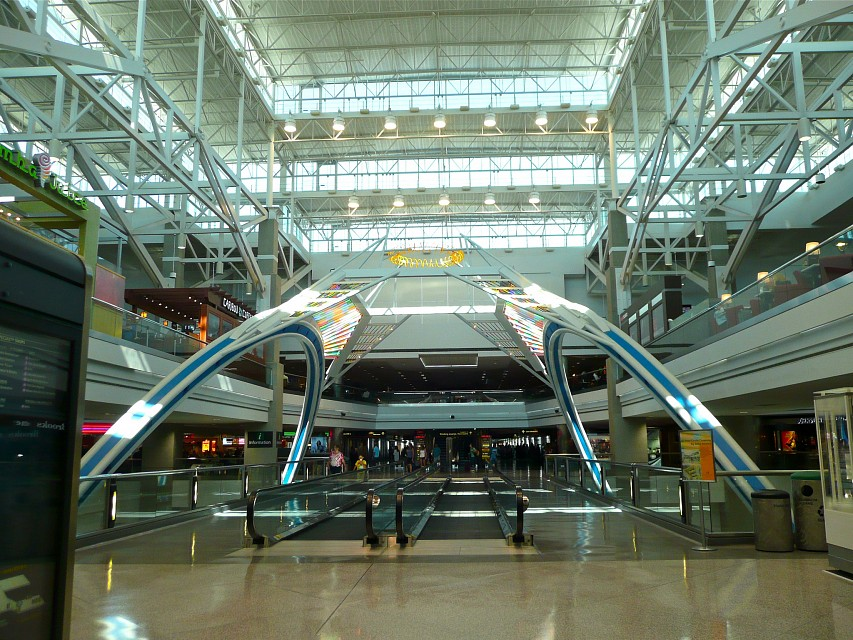 cool concourse at Denver International Airport - Denver International Airport