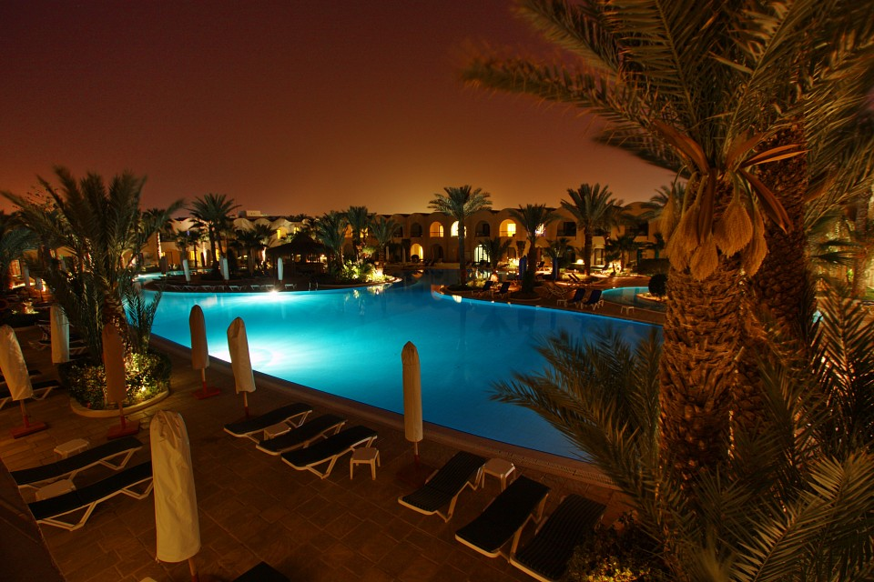 The pool at night - Djerba