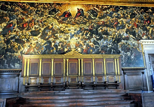 Italy-1605 - Largest Oil Painting in the World. - Doge's Palace