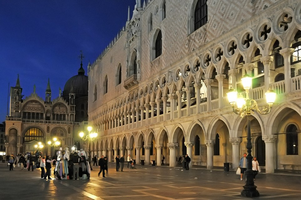 Italy-1275 - Doge's Palace and St. Mark's Cathedral - Doge's Palace