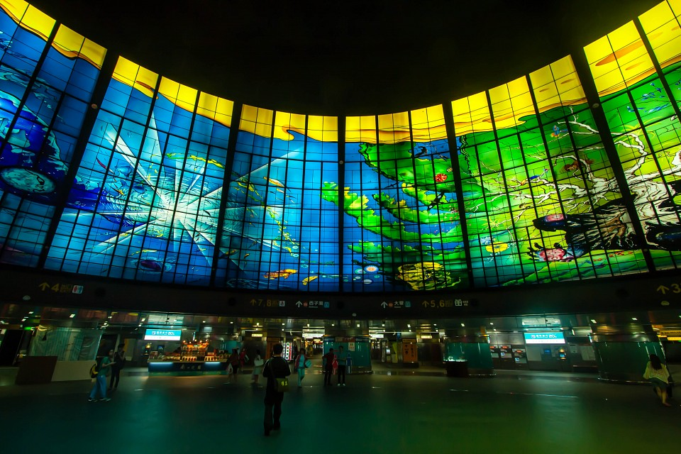 Dome of Light - Formosa MRT station, Kaohsiung, Taiwan - Dome of Light