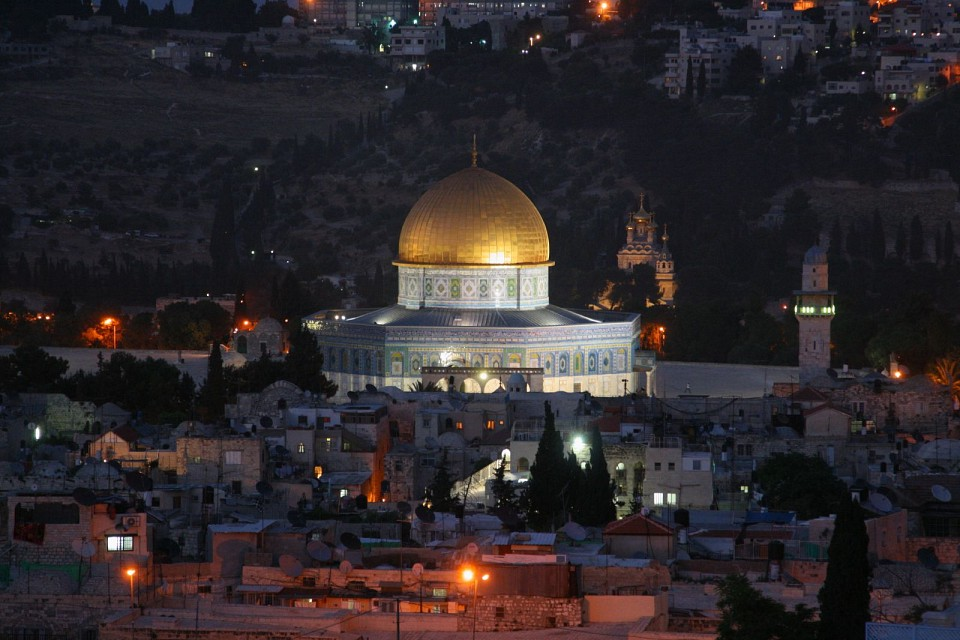 Jerusalem's Dome of the Rock as seen from David's Tower - The Citadel of David - Dome of the Rock