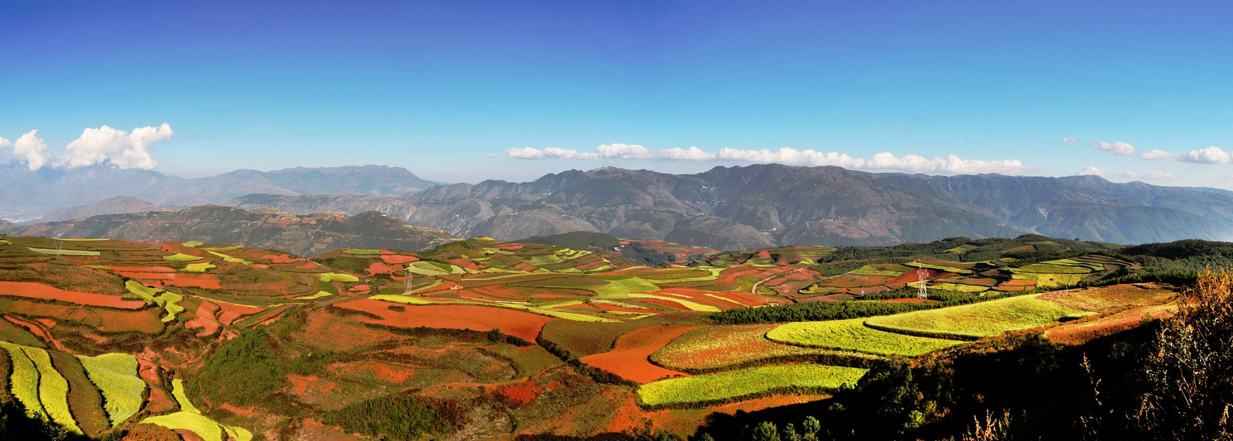 Dongchuan red earth terraces....東川紅土地錦繡園 - Dongchuan