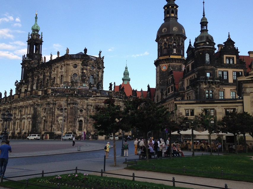 Hofkirche und Residenzchloss/Dresden Cathedral and Castle - Dresden Cathedral