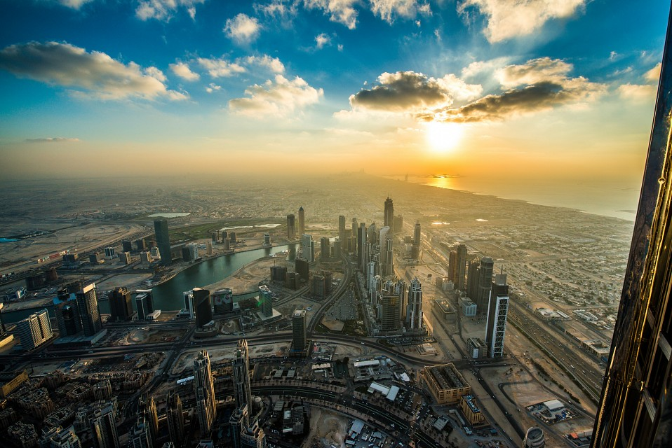 Dubai Sunset from Burj Khalifa -