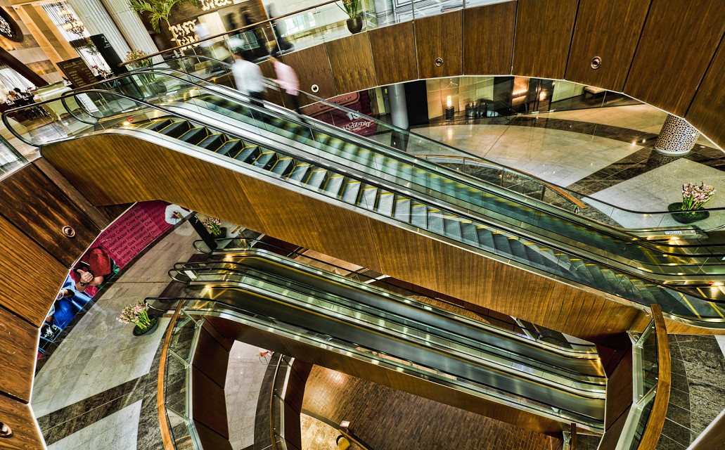 Escalators in Dubai Mall - Dubai Mall