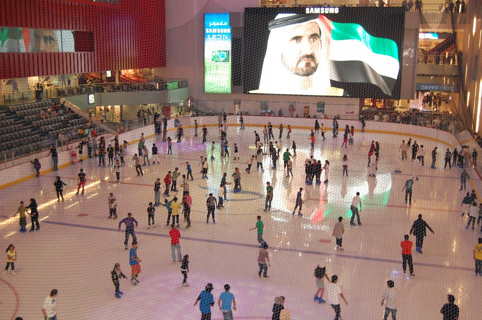 Skating rink in Dubai Mall - Dubai Mall