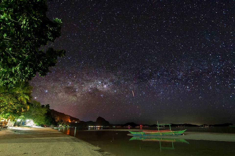 The Milky Way Over El Nido, Palawan, Philippines - El Nido