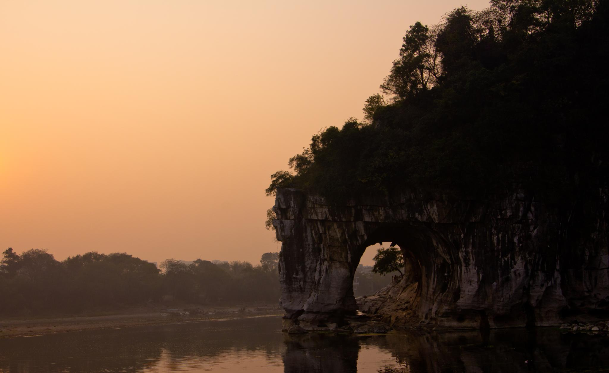 Elephant Trunk Hill Natural Arch In Li River Thousand