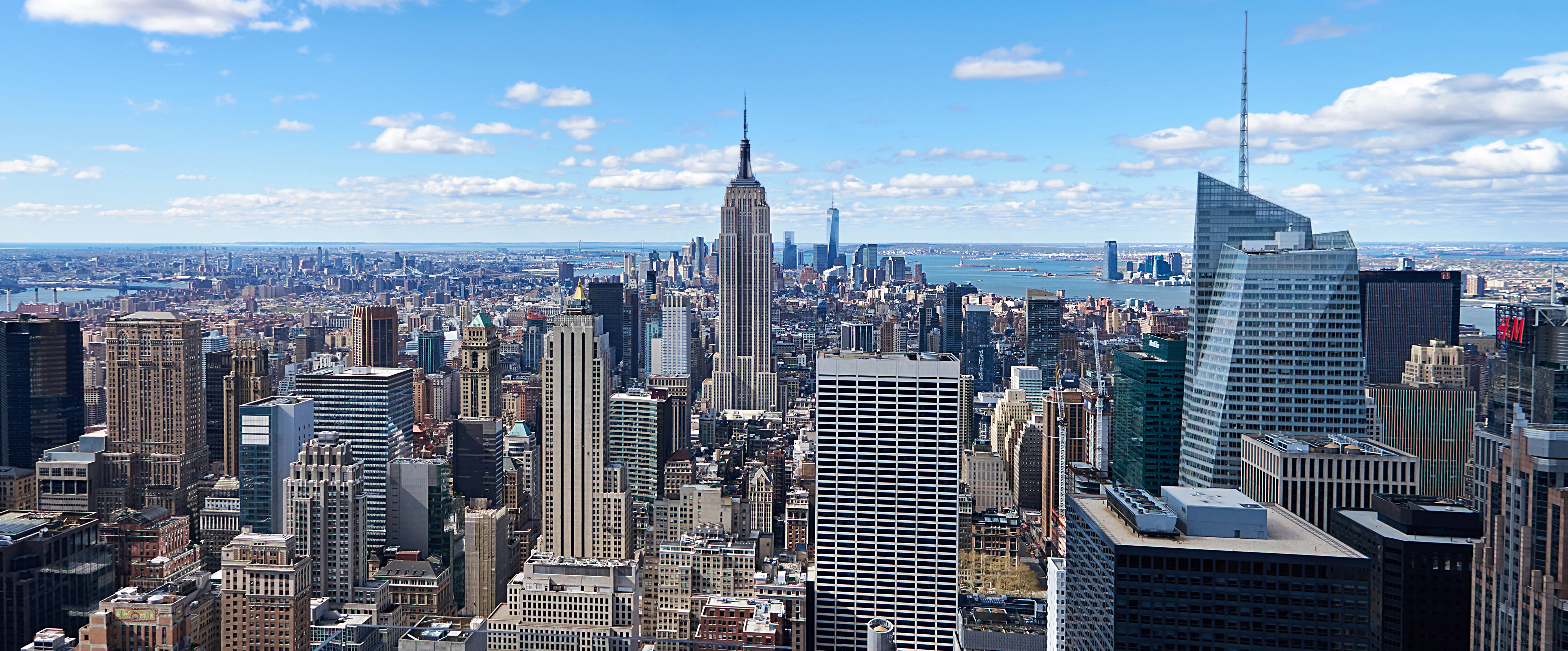Download Wallpaper 2560x1600 New york, Buildings, Sky, View from ...