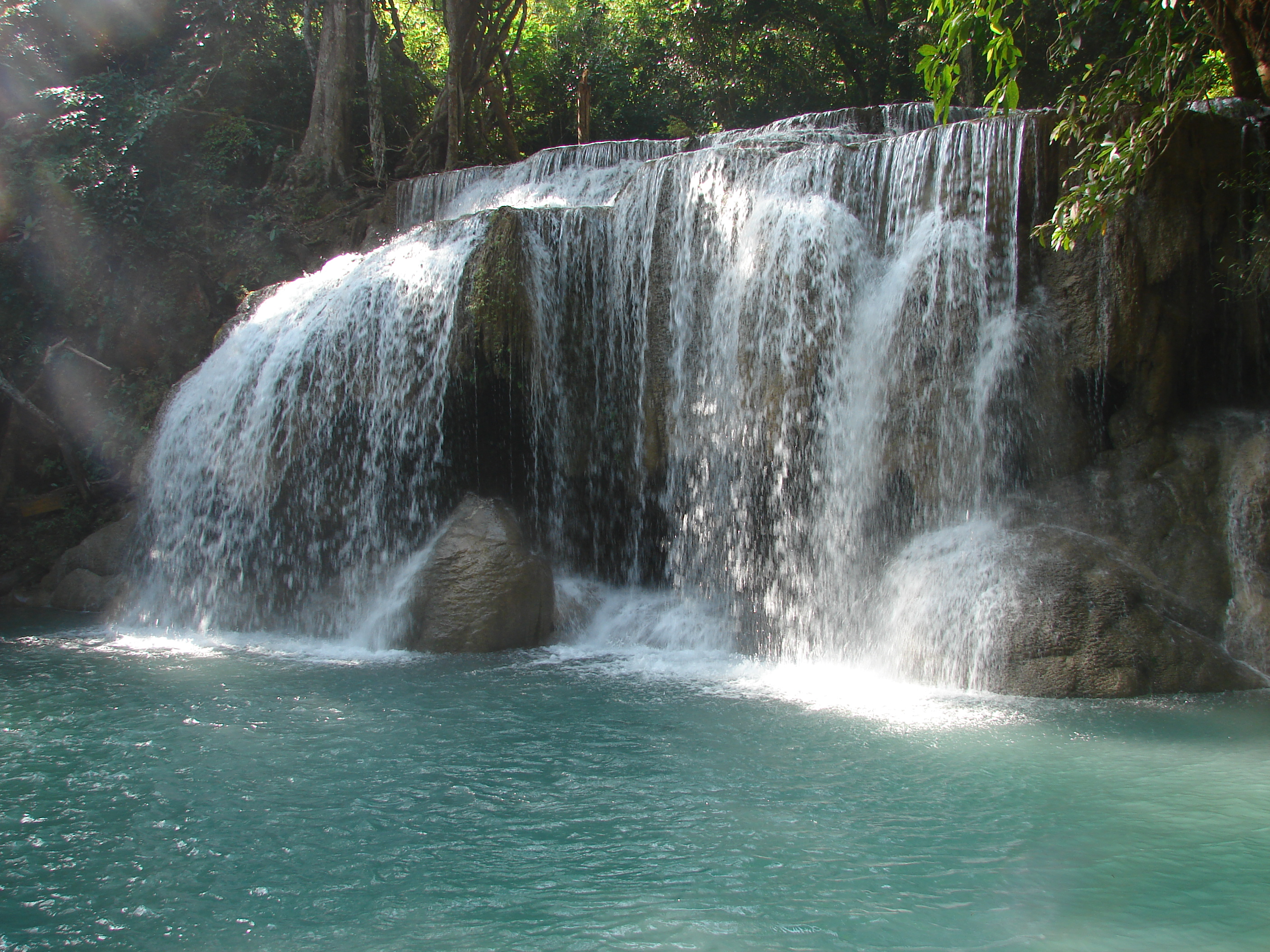 Erawan Falls - Waterfall in Erawan National Park ...