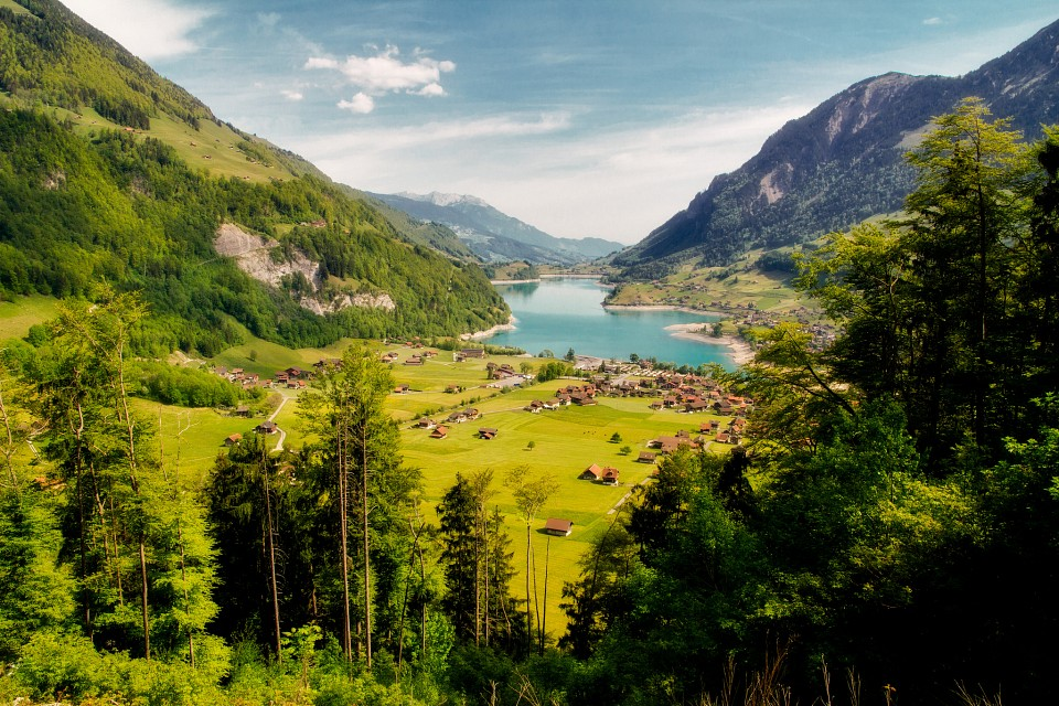 Lungerersee in Alps - Europe