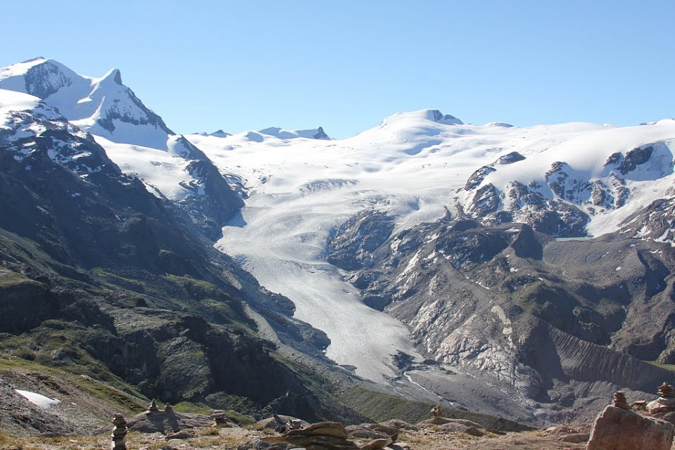 Findel Glacier. Mountain in Alps, Europe