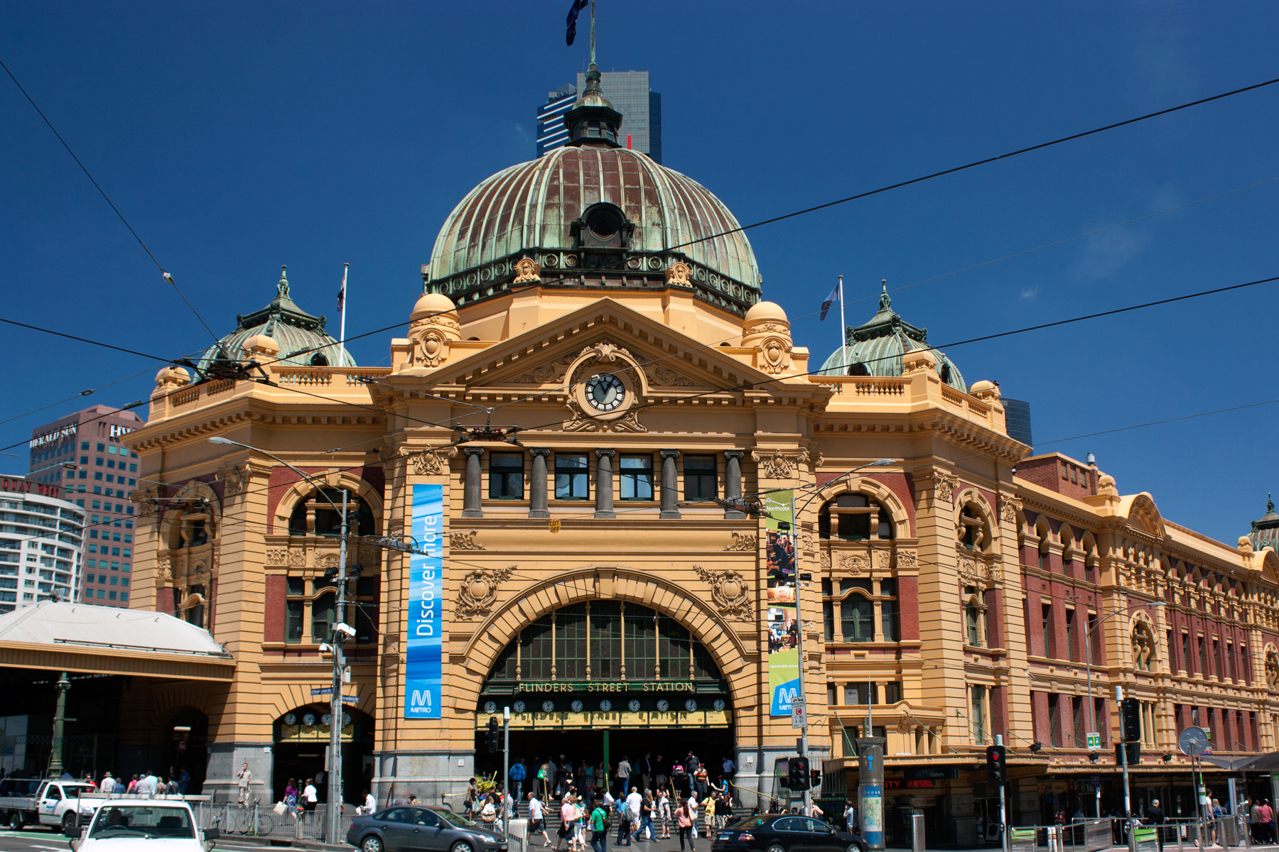 flinders street railway station public building in. Black Bedroom Furniture Sets. Home Design Ideas