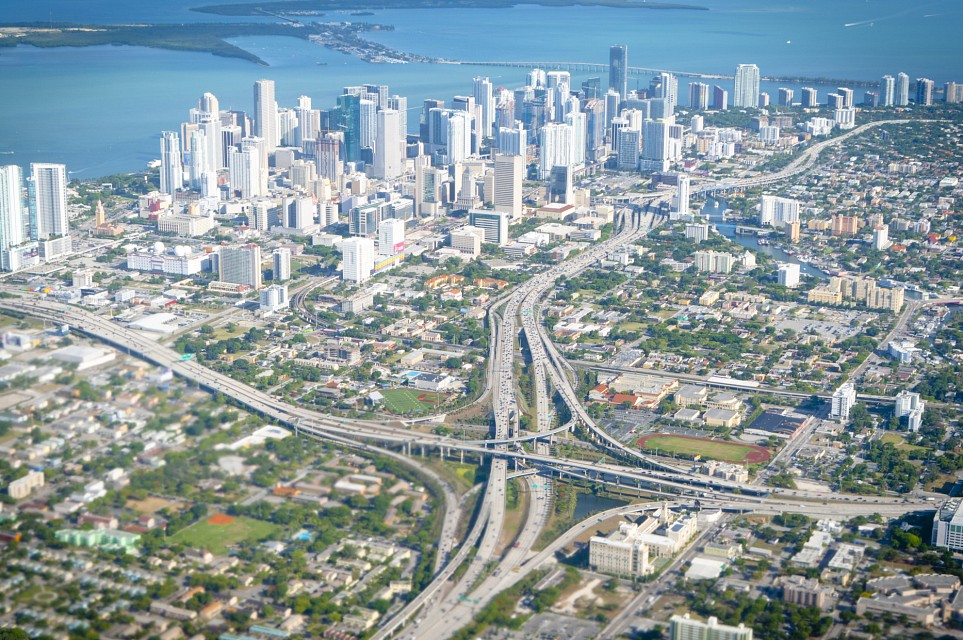 Miami Downtown aerial view - Florida