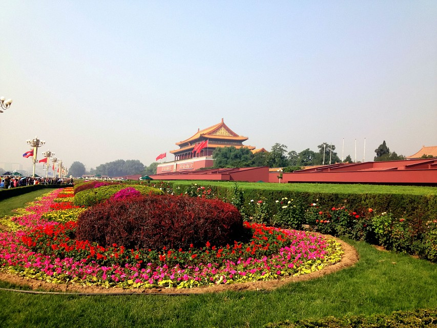 Tiananmen flower garden - Forbidden City