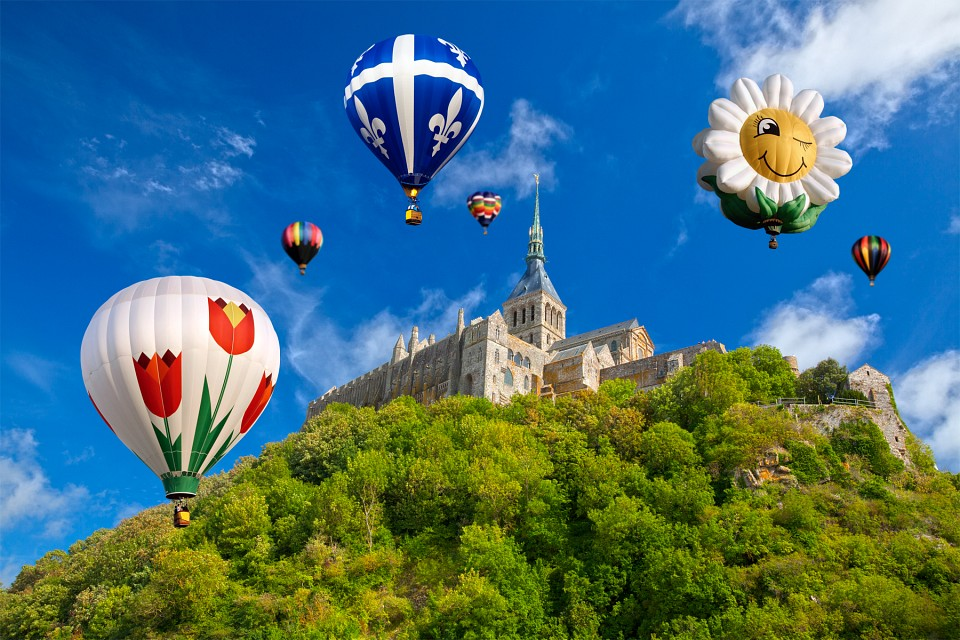 Hot Air Balloons - Mont Saint-Michel - France