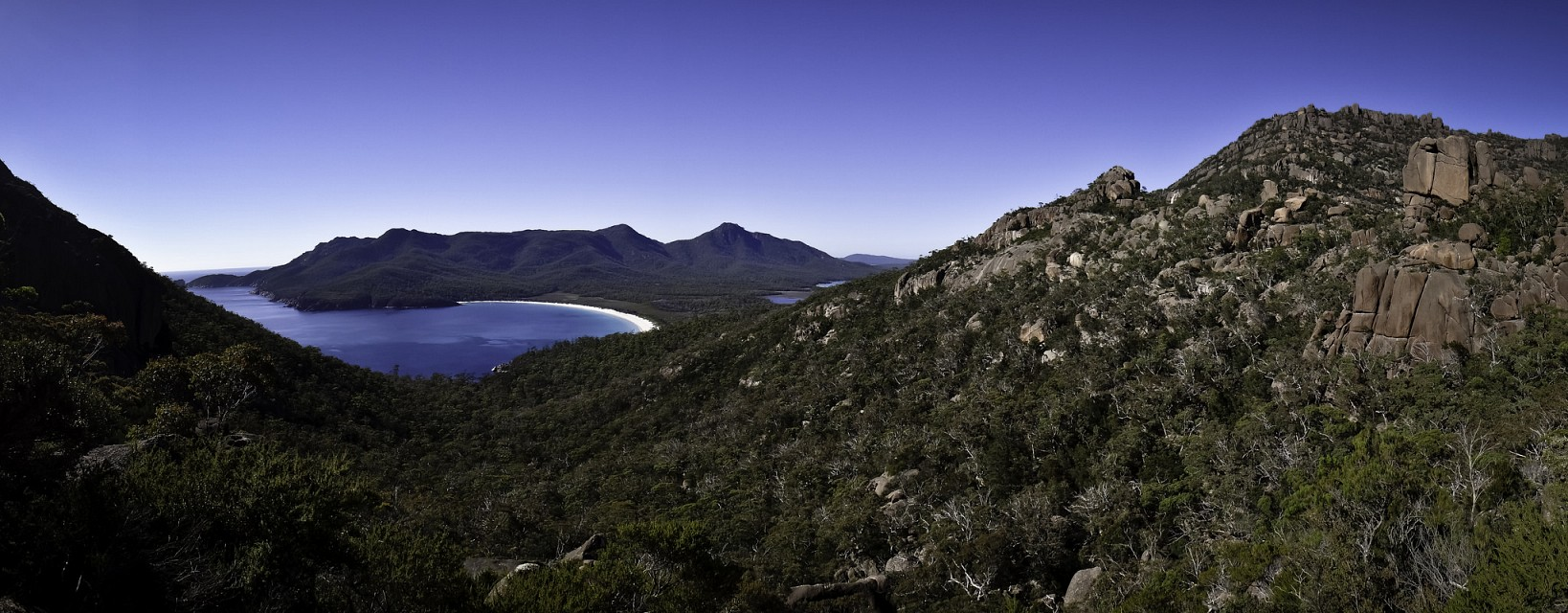 Wineglass Bay lookout panorama, Freycinet National Park - Freycinet National Park