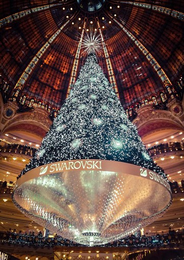 The Christmas Tree From the Galeries Lafayette - Paris - - Galeries Lafayette