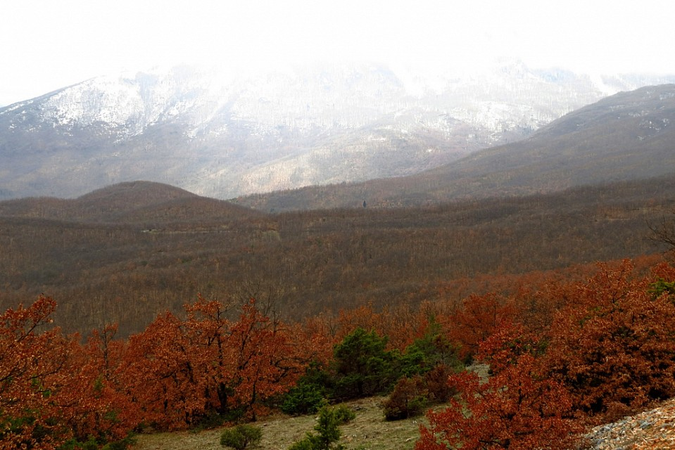 Snow capped Galičica in early spring - Galičica