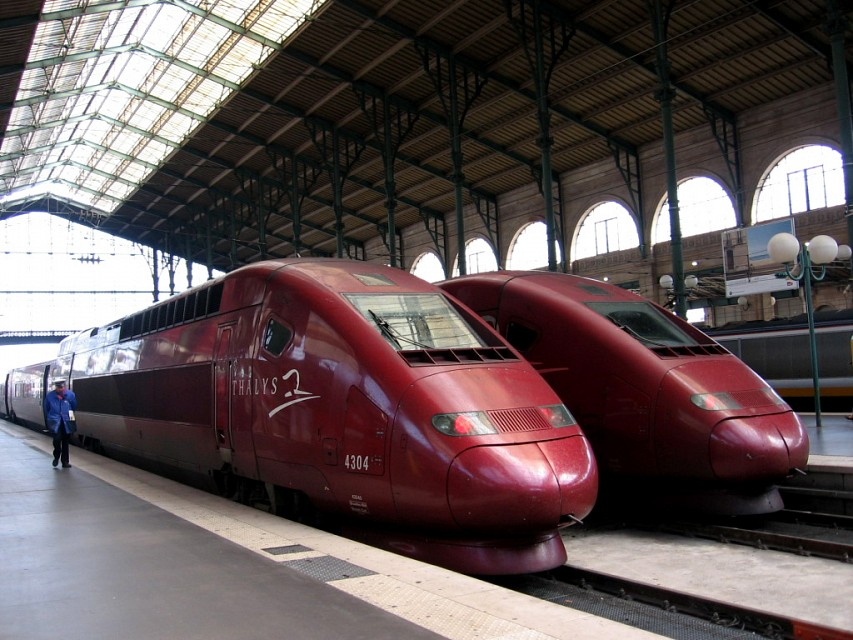 Thalys at the Gare du Nord - Gare du Nord