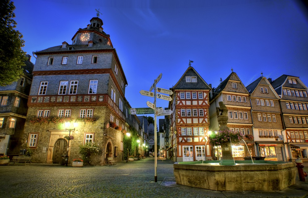 Herborn Market Place in Germany - Germany