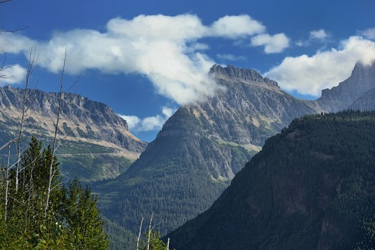 A Look Back to Logan Pass from The Loop (Glacier National Park) - Glacier National Park