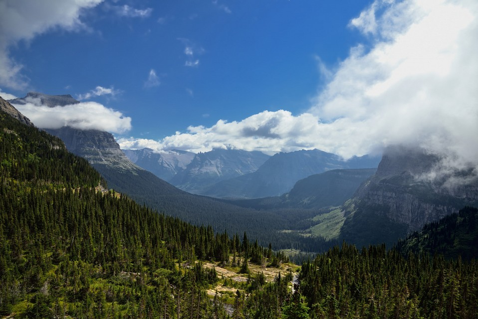 View from Going to the Sun road -